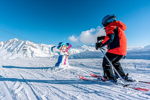 location de chalet à la rosière ski enfant