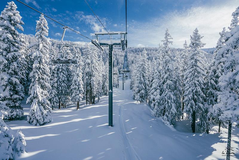 location de chalet à la rosière neige